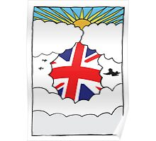 Emigrating To Great Britain Card Poster