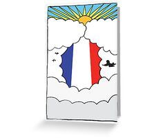 Emigrating To France Card Greeting Card
