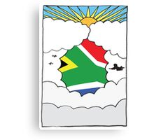 Emigrating To South Africa Card Canvas Print