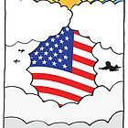Emigrating To USA Card by springwoodbooks