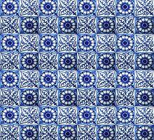 Blue Tiles iPhone case by Irina Chuckowree