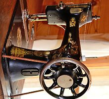 Old Sewing Machine Iphone Case by TJ Baccari Photography