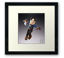 Satoru Iwata as Mii Fighter Framed Print
