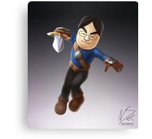 Satoru Iwata as Mii Fighter Canvas Print