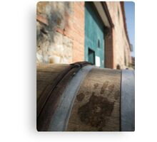 Handprint in Wine Canvas Print