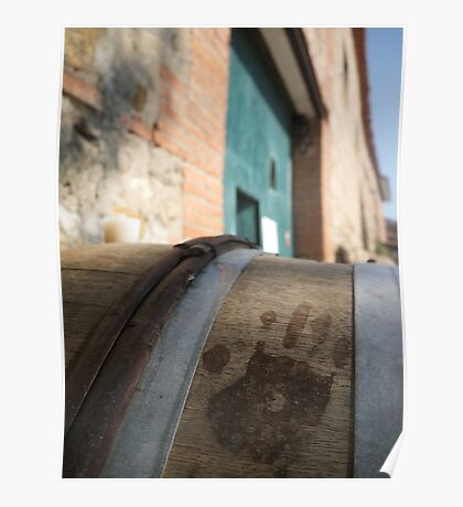 Handprint in Wine Poster