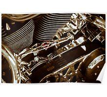 Harley Davidson Superman engine in South Dakota 2012 Poster