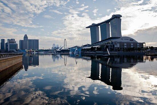 Good Morning Marina Bay by RickyMoorePhoto