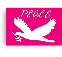 peace, with dove and olive branch Canvas Print