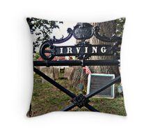 The Irving Family Plot - Washington Irving's grave - photo 1 Throw Pillow