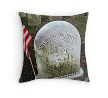 Simple Tombstone for a Great Man - Washington Irving's grave - photo 2 Throw Pillow