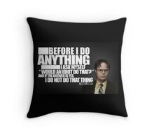 Before I Do Anything Throw Pillow