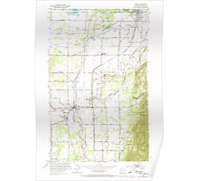 USGS Topo Map Washington State WA Sumas 244116 1952 24000 Poster