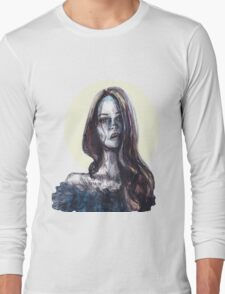 mixed media portrait Long Sleeve T-Shirt