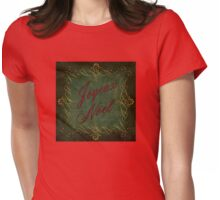 Joyeux Noel In Green And Red Womens Fitted T-Shirt