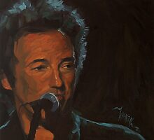 It's Boss Time - Bruce Springsteen Portrait by Khairzul MG