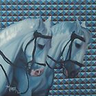 Trippy Horses - Horse Painting by Khairzul MG