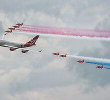 Virgin Atlantic & The Red Arrows by Pancake76