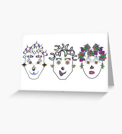 """Anthropomorphic Math Chicks 2""© Greeting Card"