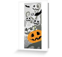Pumpkins in the forest Greeting Card