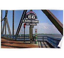 Route 66 - Chain of Rocks Bridge and Gas Pump Poster