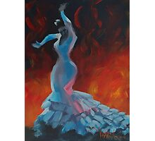 Flame - Flamenco Dancer Painting Photographic Print