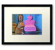 """And, This Bed Is Just Right...."" Framed Print"