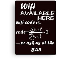 Wifi Code Canvas Print