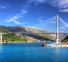 Franjo Tuđman Bridge by Tom Gomez