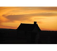 Sunset Silhouette Photographic Print