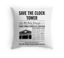 Save the clock tower Throw Pillow