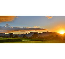 The Lake District: Sunset over the Fells Photographic Print