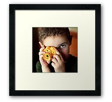 Smile for me, Mommy! Framed Print