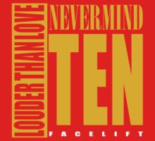 Nevermind Ten Facelift Louder than the Sound Grunge albums One Piece - Short Sleeve