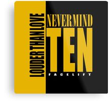 Nevermind Ten Facelift Louder than the Sound Grunge albums Metal Print