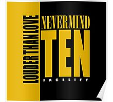 Nevermind Ten Facelift Louder than the Sound Grunge albums Poster