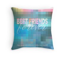 Best Friends Forever Pastel Mosaic Stained Glass Throw Pillow