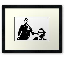 Mad Max And Johnny The Boy Framed Print