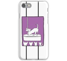 Cat Stripper Fun in Colour iPhone Case/Skin