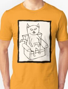 Cat Stroking a Human T-Shirt