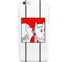 Cat Licker in Colour iPhone Case/Skin