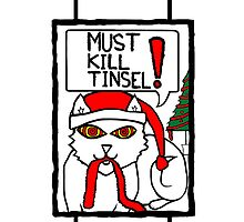 Must Kill Tinsel Cat in Colour by Fangpunk