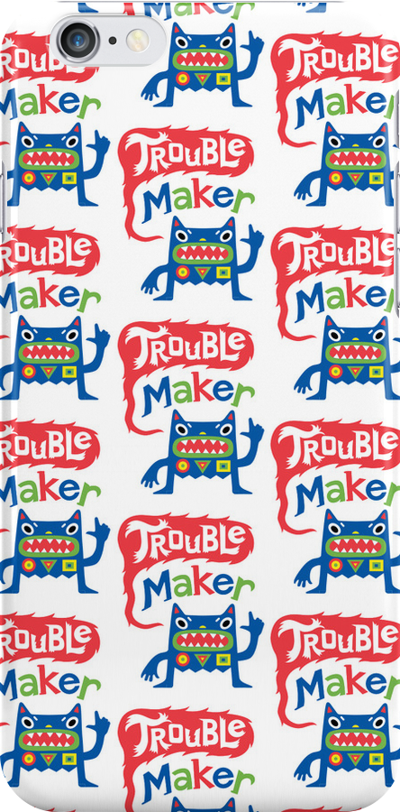 Trouble Maker Pattern    3G  4G  4s case by Andi Bird