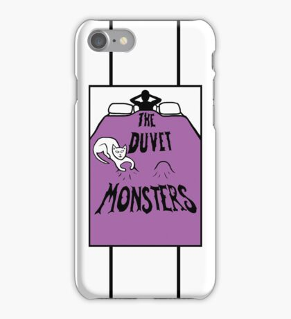 The Duvet Monsters Cat in Colour iPhone Case/Skin