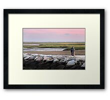 Watching the Sunset - Provincetown Massachusetts Framed Print