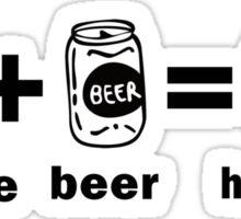 Lacrosse + Beer = Happiness Sticker