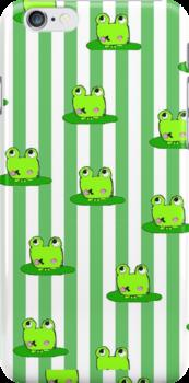 cute frog iPhone case by Zozzy-zebra