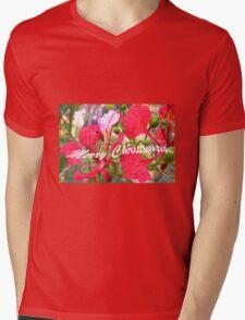 Poinciana Merry Christmas Card Mens V-Neck T-Shirt