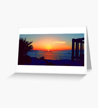 Magical Sunsets in Mykonos Greeting Card