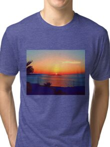 Magical Sunsets in Mykonos Tri-blend T-Shirt